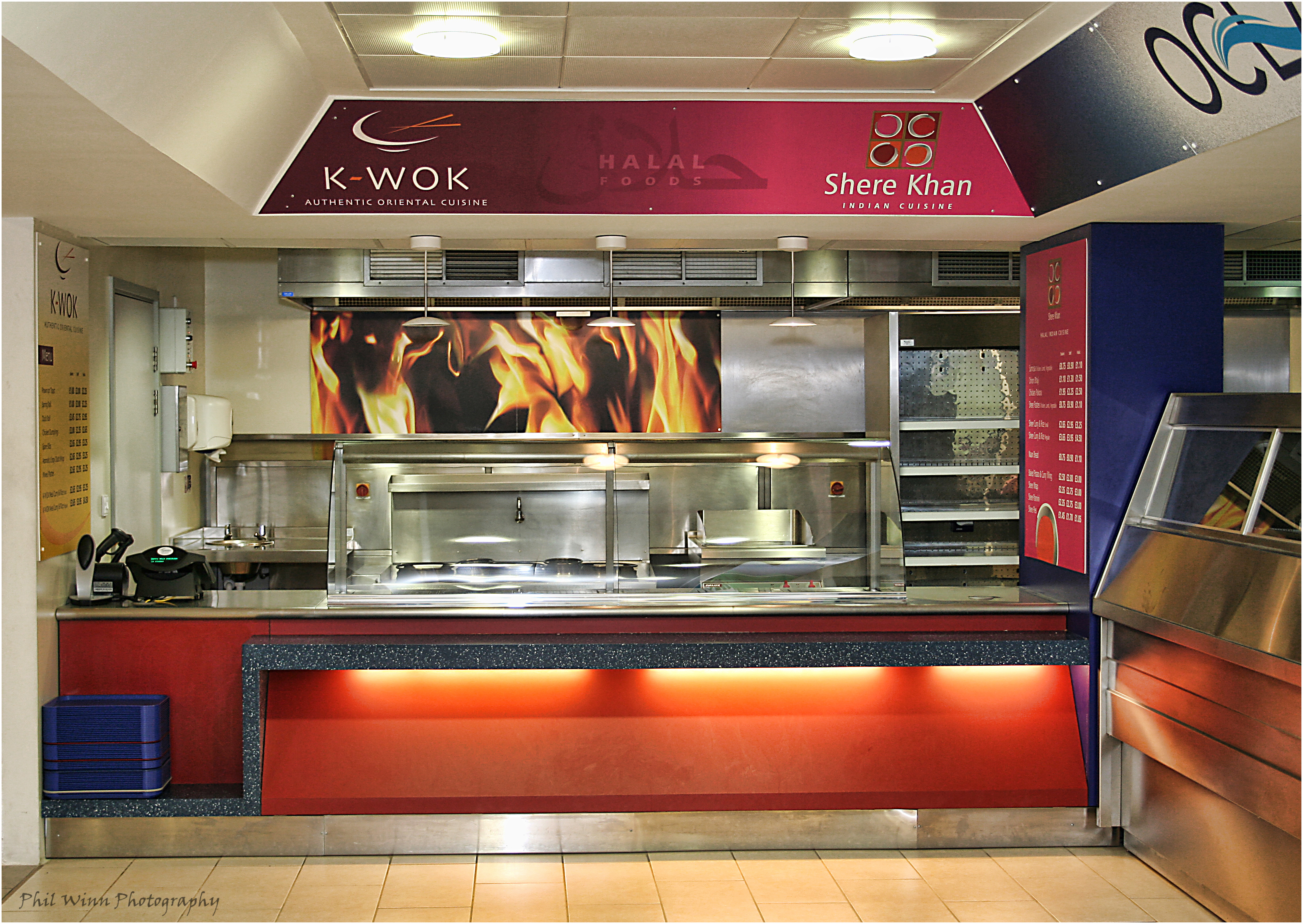 Commercial Photography Dining Hall Servery