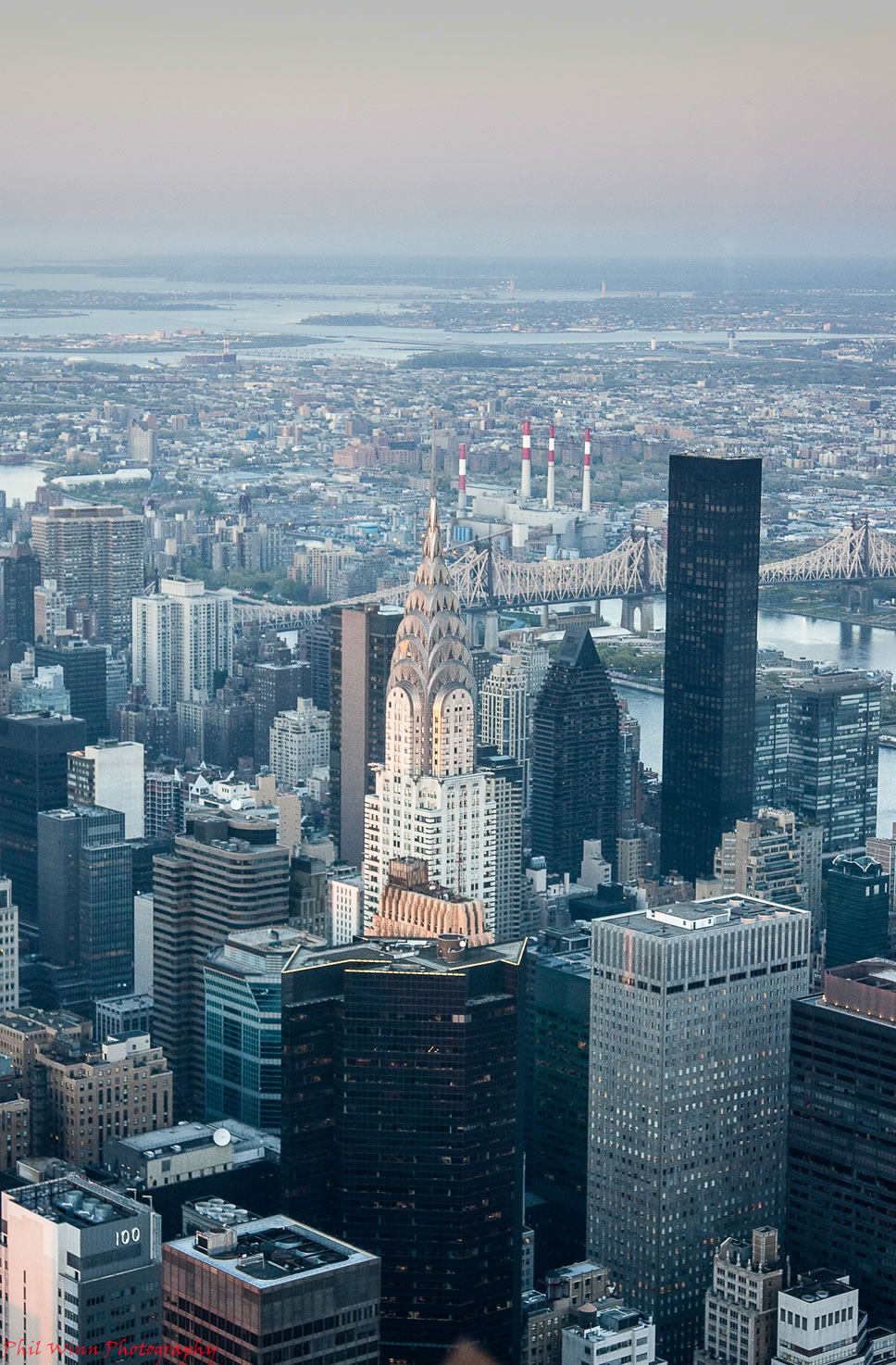 Skyscape view of the Chrysler Building in New York